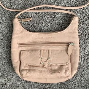 {Stone Mountain} Blush Pink Leather Purse/Handbag